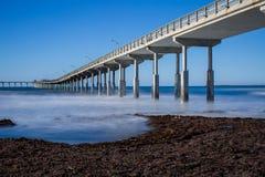 cais da praia do oceano Imagens de Stock