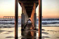 Cais da praia do oceano Foto de Stock