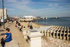 Cais da Ribeira pier in Lisboa, Portugal Royalty Free Stock Image
