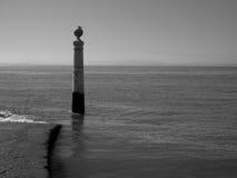 Cais DAS Colunas à la place de commerce, Lisbonne, Portugal Images stock