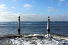 Cais das Colunas, Lisboa, Portugal Foto de archivo libre de regalías