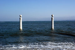 Cais das Colunas, Lisboa, Portugal Fotografía de archivo