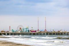 Cais de aço, o primeiro parque de diversões de Atlantic City Fotografia de Stock