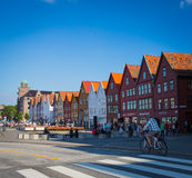 Cais de Bergen Hanseatic fotos de stock