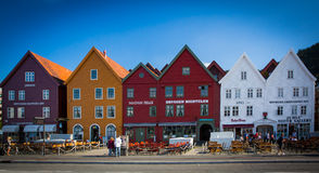 Cais de Bergen Hanseatic noruega imagem de stock