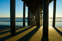 Cais de Huntington Beach Fotografia de Stock