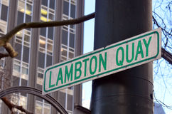 Cais de Lambton em Wellington - Nova Zelândia imagens de stock