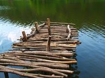 Cais de madeira velho Fotografia de Stock Royalty Free