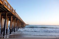 Cais de madeira, Ventura, CA Imagens de Stock