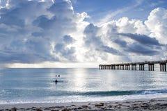 Cais de Miami Beach Imagens de Stock Royalty Free