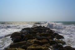 Cais de pedra. Foto de Stock