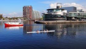 Cais de Salford, maior Manchester Reino Unido imagens de stock