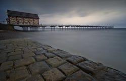 Cais de Saltburn [North Yorkshire, Reino Unido] Imagens de Stock