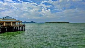 Cais de Surat Thani imagem de stock
