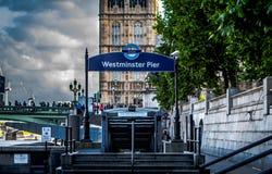Cais de Westminster fotos de stock royalty free