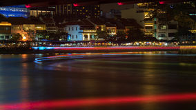 Cais do barco na noite Foto de Stock