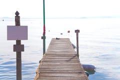 Cais do lago Bolsena Imagem de Stock