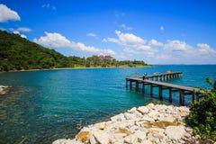 Cais do mar de Khao Laem Ya Imagens de Stock Royalty Free