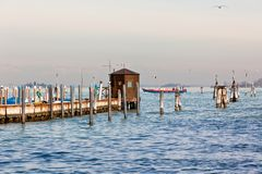 Cais do mar em Veneza Foto de Stock Royalty Free