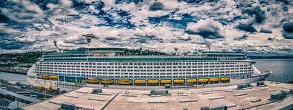 Cais 91 do navio de cruzeiros em seattle Washington Imagem de Stock Royalty Free