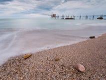 Cais do oceano   Fotografia de Stock