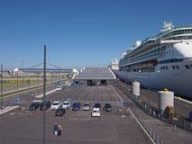 Cais do oceano - Copenhaga Dinamarca imagem de stock