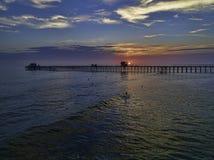 Cais do perto do oceano Fotografia de Stock Royalty Free