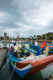 Cais do pescador s de Tamshui, Taipei, Taiwan Foto de Stock Royalty Free