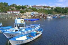Cais do porto de Ahtopol, Bulgária Imagem de Stock Royalty Free