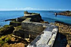 Cais do St Monans Zig Zag, pífano - Escócia Imagens de Stock Royalty Free