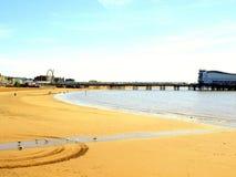 Cais e areias, Weston Super Mare, Somerset; Imagem de Stock Royalty Free