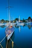 Cais e barcos Imagem de Stock Royalty Free