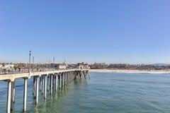 Cais e litoral do Huntington Beach imagem de stock
