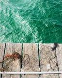 Cais e mar Fotografia de Stock