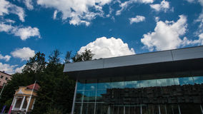 Cais e parque de Krynica Gorska fotos de stock royalty free