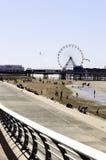 Cais e praia centrais de Blackpool foto de stock royalty free