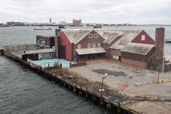 Cais em Boston imagem de stock