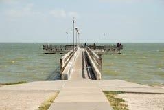Cais em Corpus Christi, Texas Fotografia de Stock Royalty Free