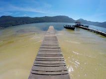 Cais em Lagoa a Dinamarca Conceição em polis do ³ de Florianà - Santa Catarina - Brasil Fotos de Stock Royalty Free