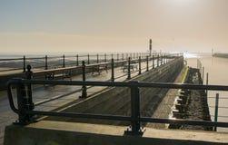 Cais em Littlehampton, Sussex, Inglaterra Foto de Stock Royalty Free