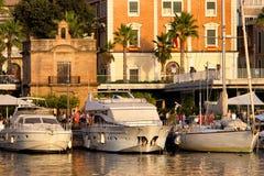 Cais 1 em Malaga fotografia de stock royalty free