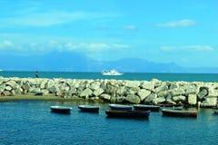 Cais em Nápoles Imagem de Stock Royalty Free