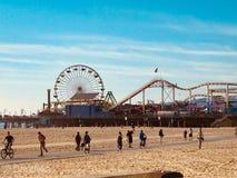 Cais em Santa Monica Beach, Califórnia fotos de stock