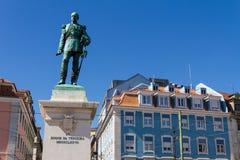 Cais font la vue de Sodre à Lisbonne, Portugal Image libre de droits
