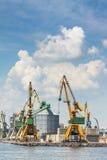 Cais industrial do porto Imagens de Stock