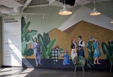 Cais mural da marinha da conversação cultural, Chicago, Illinois fotos de stock royalty free