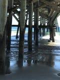 Cais na areia Imagem de Stock Royalty Free