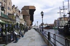 Cais na cidade de Gdansk Fotografia de Stock