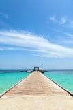 Cais na ilha de Maiton, Tailândia Foto de Stock Royalty Free