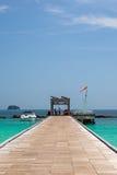 Cais na ilha de Maiton, Tailândia Imagem de Stock Royalty Free